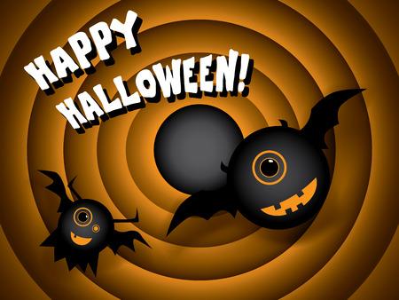 Halloween card vintage movie ending screen