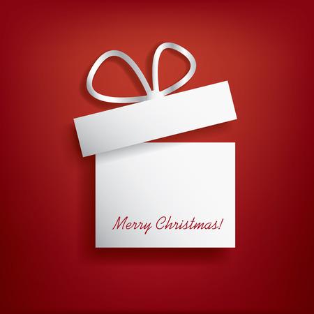 gift season: Christmas card with christmas present