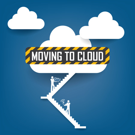 Cloud computing concept illustration vector with space for text Vector