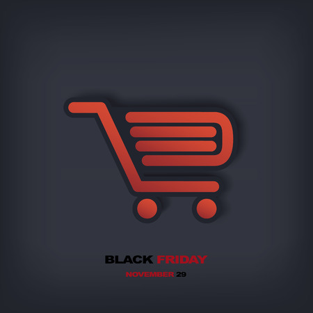 Black Friday sales vector illustration suitable for advertising, vouchers, gift cards, posters. Eps10 vector illustration Vector