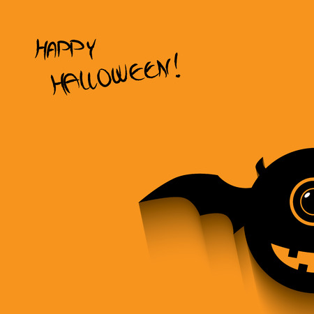 Halloween card or postcard design with happy smile monsters and space for text. Eps 10 vector illustration. Vector