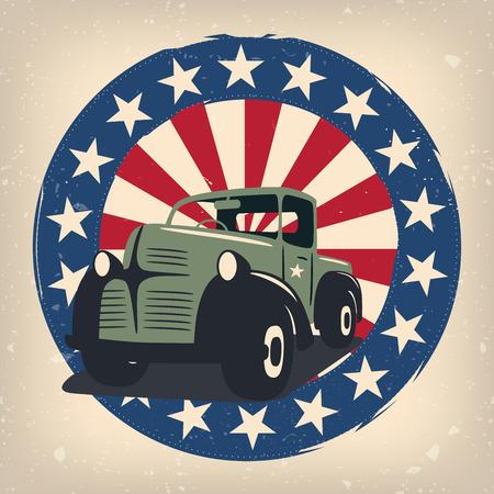 Veterans day badge eps10 vector illustration for posters, flyers, decoration etc. Illustration