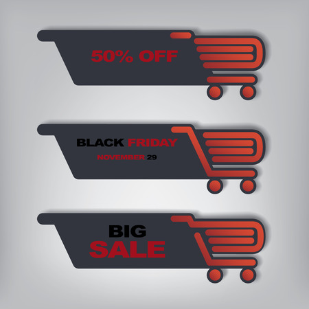 Black Friday sales illustration suitable for advertising, vouchers, gift cards, posters.  Vector