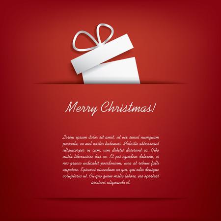 Carte de Noël avec des cadeaux de Noël