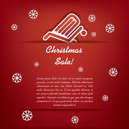 Christmas sales illustration suitable for advertising, vouchers, gift cards, posters.  Vector
