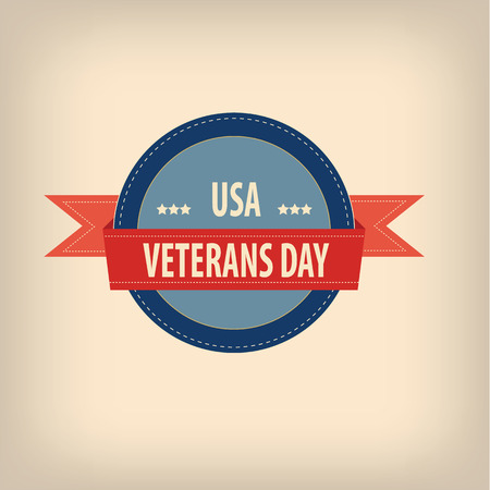 Veterans day badge illustration for posters, flyers, decoration etc. Vector