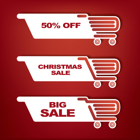 sales promotion: Shopping bag icon with Christmas sales theme for sales promotion and advertising.  Illustration