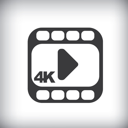 hd video: 4k ultra hd video icon isolated on background. Illustration