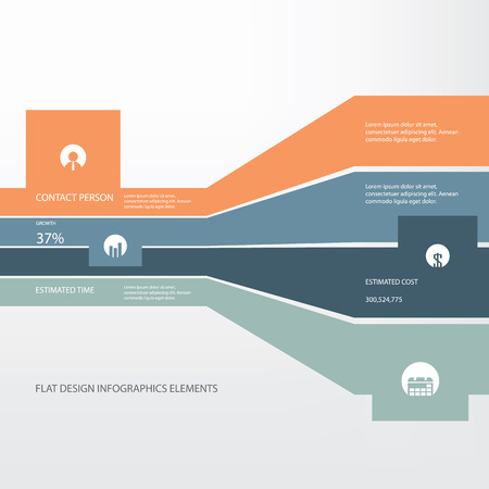 Flat design infographics concept for projects and other business activities. Eps10 vector illustration Illustration