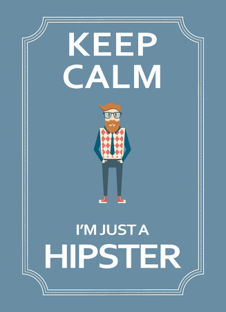 cynical: Hipster motivational poster with funny text. Illustration