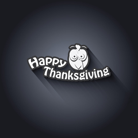 Thanksgiving card vector design with traditional turkey. Suitable for cards, flyers, posters, invitations.  Vector