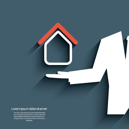 housing estate: Real estate agent offering housing. Eps10 vector illustration Illustration