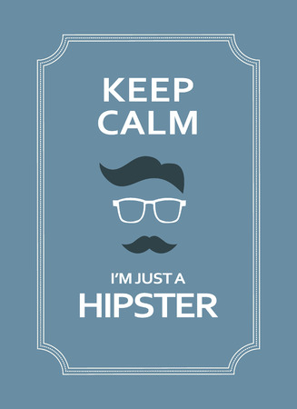 cynical: Hipster motivational poster with funny text. Eps10 vector illustration Illustration