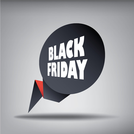 Black friday sales web element banner in 3d for promotion of discounts and advertisement of special offers. Eps10 vector illustration.