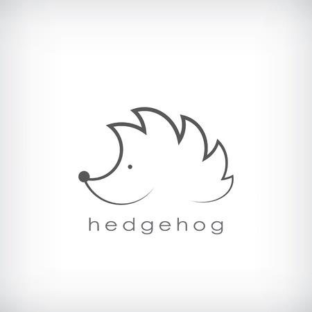 Schattige kleine egel symbool in eenvoudige schetst geschikt voor corporate identity. Eps10 vectorillustratie
