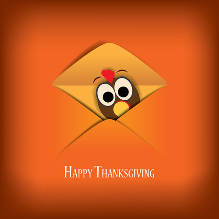 Thanksgiving card vector illustration design with traditional turkey and space for text. Eps10 vector illustration.