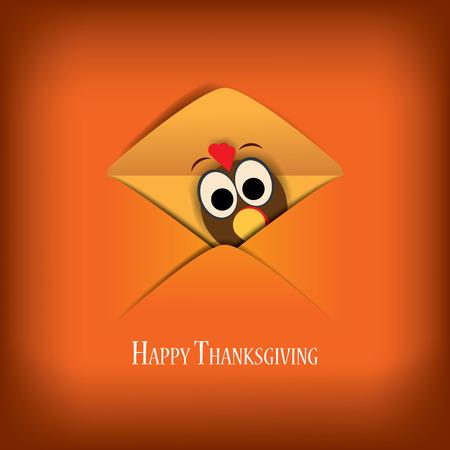 Thanksgiving vecteur illustration de carte design avec la dinde traditionnelle et de l'espace pour le texte. Eps10 illustration vectorielle. Banque d'images - 33615882