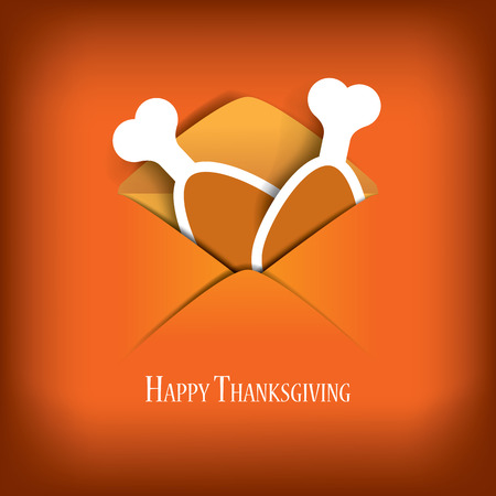 thanksgiving family: Thanksgiving card vector illustration design with traditional turkey and space for text. Eps10 vector illustration.