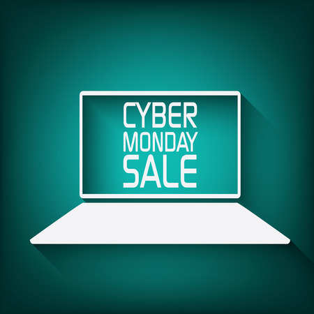 monday: Cyber monday promotional banner or poster for discounts advertisement. Eps10 vector illustration