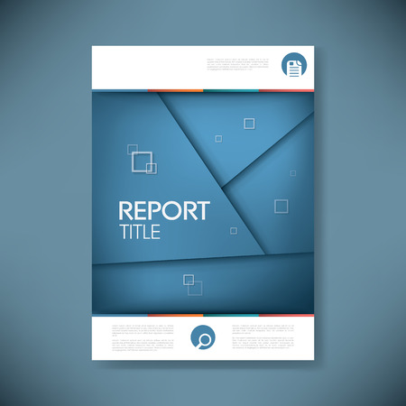 Brochure or annual report cover with abstract background and space for your text. Eps10 vector illustration Illustration