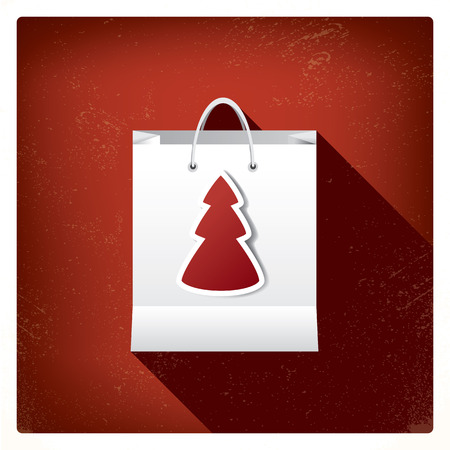 rebates: Christmas sales shopping bag concept design for promotion and advertising of discounts. Eps10 vector illustration Illustration