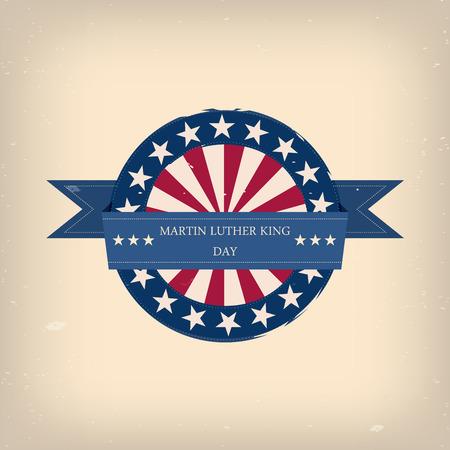 martin: Martin Luther King ulotki dnia badge, dekoracji itp Ilustracja