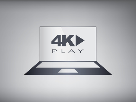 4k screen laptop computer with modern ultra hd resolution. Vector