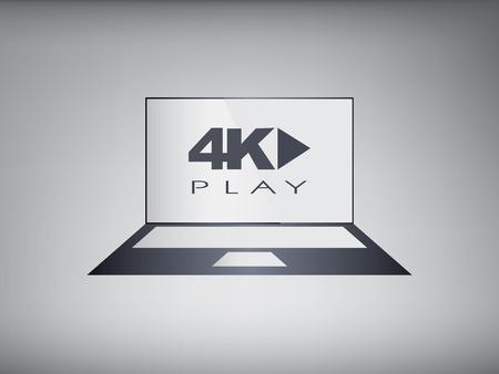programmes: 4k screen laptop computer with modern ultra hd resolution.