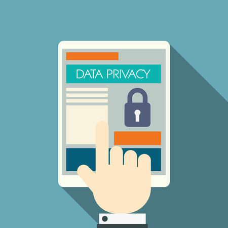 datos personales: Protecci�n de datos en la tecnolog�a de la computaci�n en nube con iconos de dispositivos y aplicaciones para computadoras digitales.