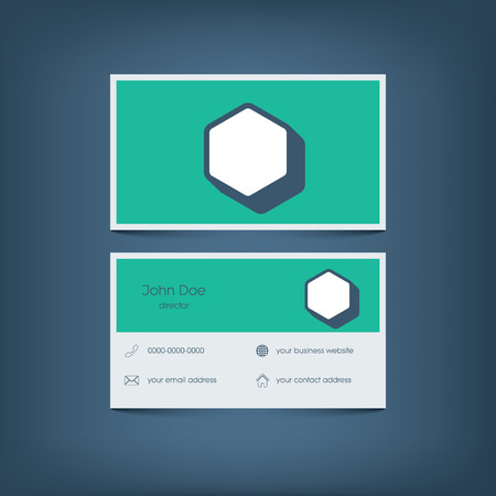 Modern flat design business card template graphic user interface modern flat design business card template graphic user interface with line icons for website flashek Image collections