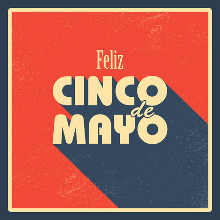 Cinco de Mayo posters backgrounds. Fiesta flyer in vintage style. Mexican holiday festival. Ilustracja