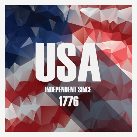 Low poly independence day modern design poster. American holiday. vector illustration. Illustration