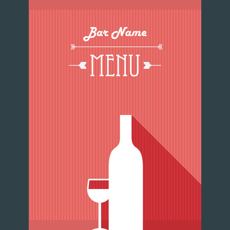 Alcohol Drinks Restaurant Menu Template. Wine Bar Background