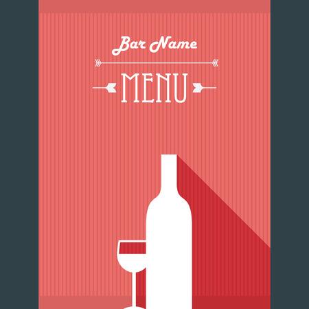 Alcohol Drinks Restaurant Menu Template Wine Bar Background
