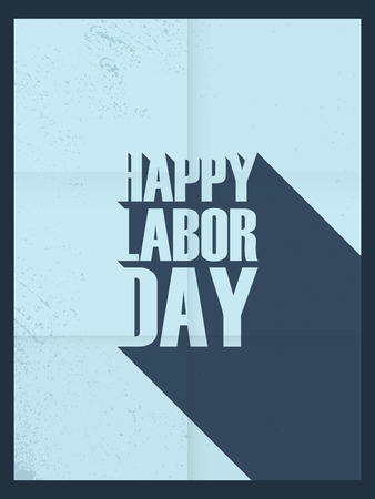 national holiday: Labor day poster. Hand holding wrench. National holiday.