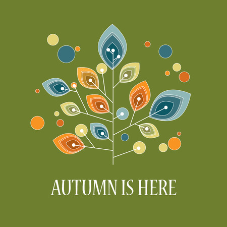 astract: Autumn background with abstract shapes. Foliage colors of fall.