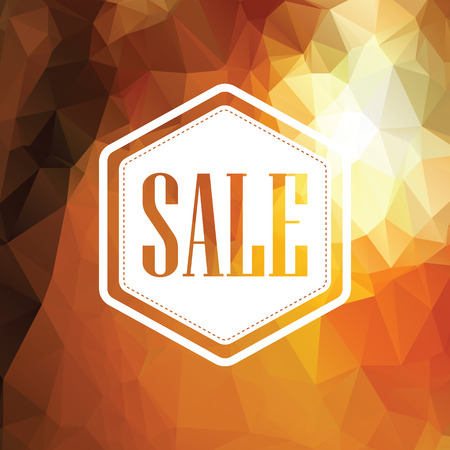 Autumn sale poster. Discounts banner template. Polygonal geometric background design. Foliage fall colors. Eps10 vector illustration. Illustration