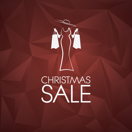 fashion shopping: Christmas sale vector background.