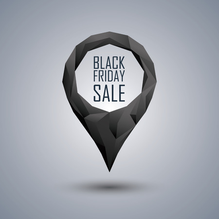 Negro Viernes cartel de venta. Foto de archivo - 44489824