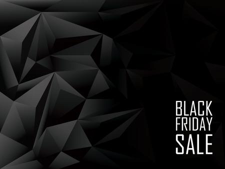 venta viernes negro fondo poligonal. promoción de descuentos en compras. banner publicitario con el espacio para el texto.