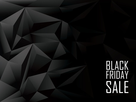 Black friday sale polygonal background. Shopping discounts promotion. Advertising banner with space for text.
