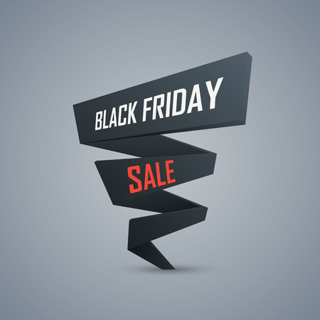 advertising text: Black friday sale promotional background. 3d polygonal object with text. Discounts advertising poster template.  Illustration