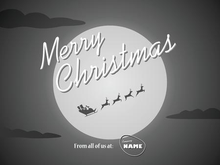 film title: Christmas vintage background. Classic movie ending screen design. Retro holiday card.  vector illustration. Illustration