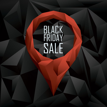 Black friday sale banner. Seasonal clearance promotion. Special offers and discounts poster. Eps10 vector illustration.