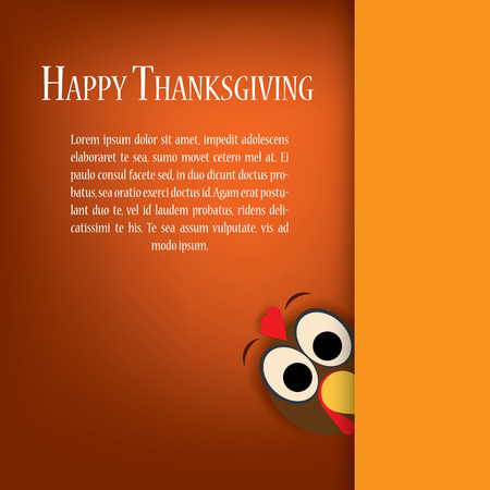 Thanksgiving turkey vector. Holiday card template. Traditional background for party invitations or postcards with space for text. Eps10 vector illustration.
