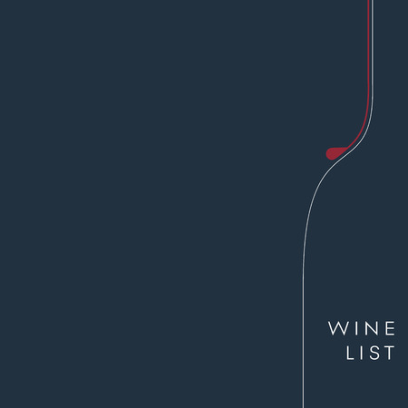 Wine list background. Alcohol menu template. Drinks and beverages vector. Eps10 vector illustration.