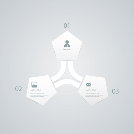 vectro: Infographics vector template. Infographic elements with business icons. Eps10 vector illustration.
