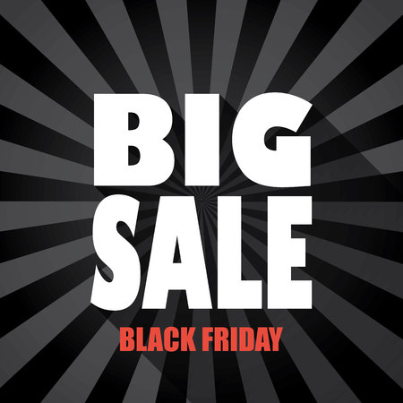 black shadow: Black friday sale template with big sale message and long shadow typography on dark background.