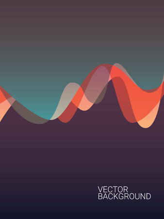 layout design template: Abstract colorful background with overlay waves. Suitable for website wallpaper, smartphone app or business presentation. Eps10 vector illustration. Illustration