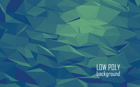 blue and green: Low poly 3d abstract vector background. Green, blue color combination for sea underwater look. Eps10 vector illustration.